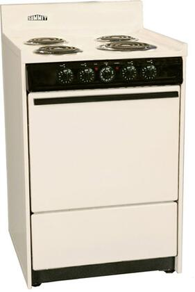 SEM610C 24 Freestanding Electric Range with 4 Burners  2.92 Cu. ft. Capacity  Manual Clean  Storage Drawer  & Porcelain oven  in