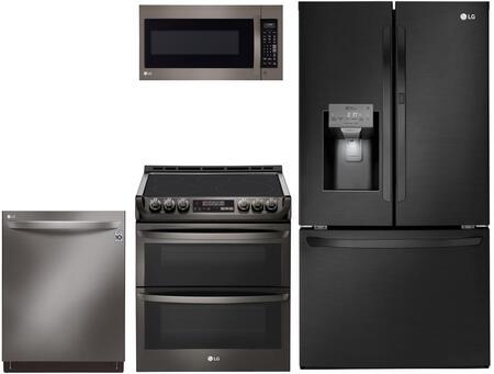 4 Piece Kitchen Appliance Package with LFXS28566M 36