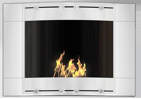 V-101A W 9800 BTU Bioethanol Liquid Fuel Fireplace: Wave