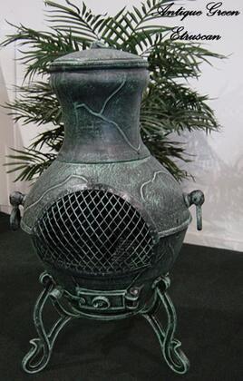 ALCH028AG Etruscan Chiminea Outdoor Fireplace in Antique