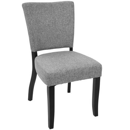 DC-VDA E+LGY2 Vida Contemporary Dining Chair with Nailhead Trim in Light Grey - Set of