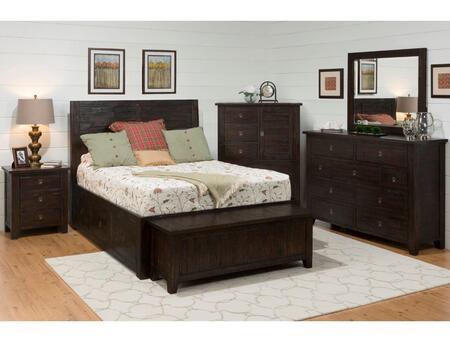 Kona Grove Collection 707-858687ktset 6-piece Bedroom Set With Queen Storage Bed  Blanket Chest  Nightstand  Dresser  Mirror And