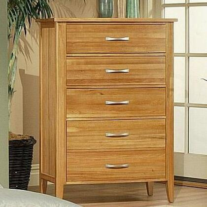 220625 Firefly Chest with Full Extension Drawer Glides and a Deep Bottom Drawer in a Wheat