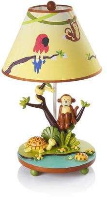 Jungle Party G86907 19 inch  Table Lamp with On and Off Switch  Hand Painted and Jungle Themed in Multi