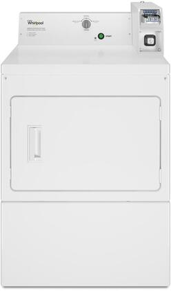 Whirlpool 27 White Commercial Gas Dryer CGM2745FQ