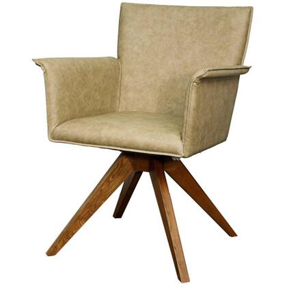 Addison Collection 448241P-712-W Chair with Walnut Legs  360 Degree Swivel and PU Upholstery in Antique