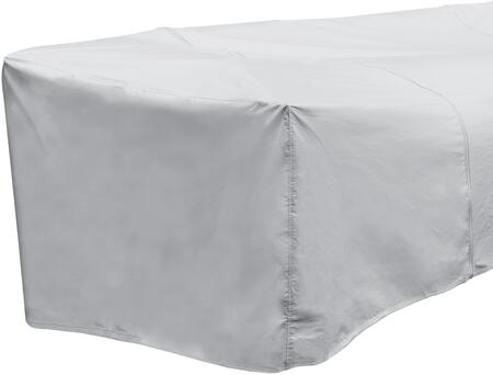 1256 32 inch  x 40 inch  Outdoor Sectional Left Arm Cover with UV Treated  Water Resistant  Soft Fleece Polypropylene Backing and Heavy Duty Vinyl Fabric in Grey