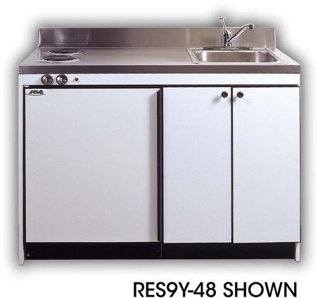 RGS10Y42 Efficiency Kitchenettes Compact Kitchen with Sink and Compact Refrigerator and Optional Gas Burners: 42
