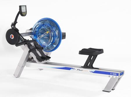 Evolution Series E520 Fluid Rower with 20 Levels of Variable Fluid Resistance  Direct Drive System  Height Adjustable Footplates and Interactive Performance