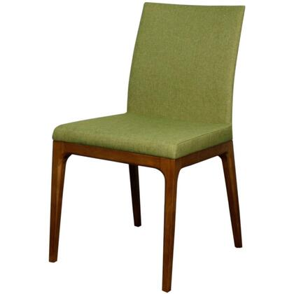 Devon Collection 448237-LI-W Chair with Walnut Legs  Solid Ash Wood Construction and Fabric Upholstery in