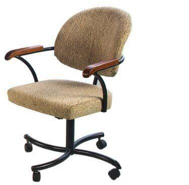 16308 Douglas Microfiber Upholstered Caster Chairs (Set of