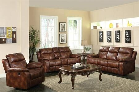 Dyson 50815SLRT 5 PC Living Room Set with Sofa + Loveseat + Recliner + Coffee Table + End Table in Light Brown