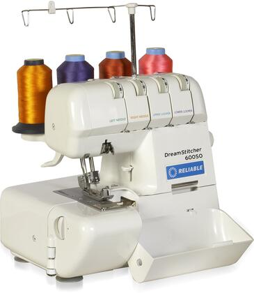 DreamStitcher 600SO Sewing Machine for Portable 2-3-4 Thread Overlock with 1000 SPM  Differential Feed Adjustment  Automatic Tension Release  Roll Hemstitch