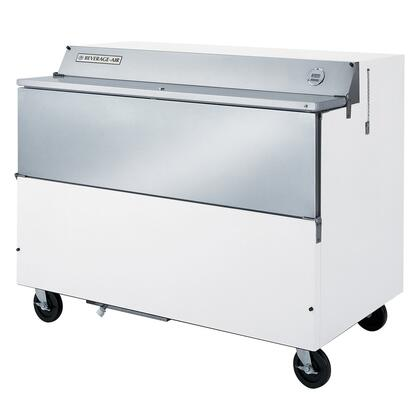 SMF58W02 58 inch  Single Sided Flip Top Milk Cooler with 24.8 Cu. Ft. Storage Capacity  16 Milk Crates Capacity  Environmentally Friendly Refrigeration  7 inch  Casters: