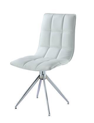 DC1238P-WHT Apollo Swivel Dining Chair  white faux leather  chrome