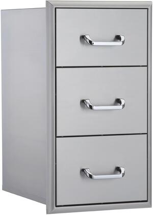 OCI-16TD 16 inch  Triple Drawer Unit in Stainless