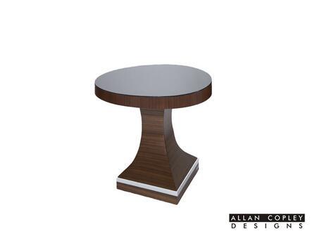 30802-02 28x28x24 Omega End Table Base in Mahogany on Asian Walnut