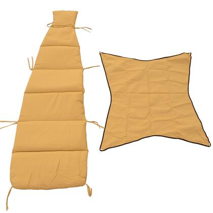 8402SD 76 inch  Cloud-9 Pad/Pillow/Canopy Set in Sand