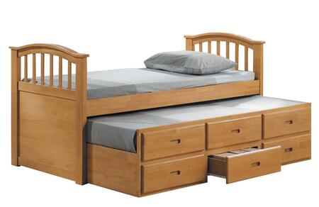 08935 San Marino Twin Captain Bed & Trundle w/3 Drawers