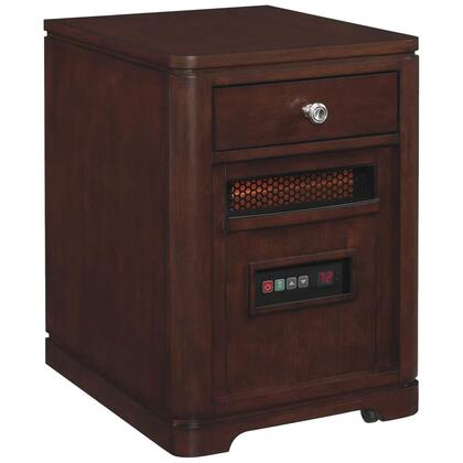 10HET4128-C244 Infrared Portable Heater with 6.686 Cu. Ft. 1500 Watt/5200 BTU Heat Output 6 InfraRed Quartz Heating Elements Solid Hardwoods and Real Wood