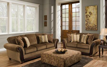 1856531662SL Fairfax Sofa + Loveseat with 4 Alpaca Cumin Toss Pillows  16 Gauge Wire  Sinuous Springs  Solid Kiln Dried Hardwood Frames and Engineered Wood