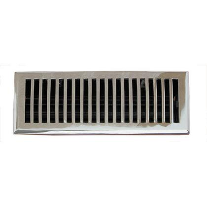 116E CH Contemporary Series Solid Brass Decorative Floor Register Vent In Chrome