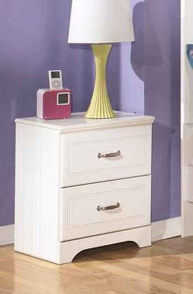 Lulu Collection B102-92 21 2-Drawer Nightstand with Grooved Panels  Embossed Framing Drawers and Side Roller Glides in