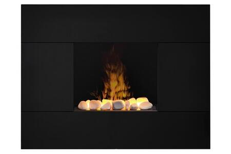 TAH20R Tate Wall Mount Electric Fireplace  with White Rock Faux Flame Bed  Cool Glass Front  Remote Control  and Contempotary Style  in