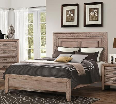 Ireton Collection 26030Q Queen Size Bed with Low Profile Footboard  Side Rails  Medium-Density Fiberboard