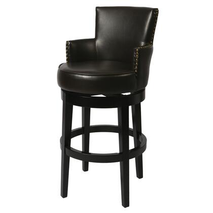 QLZA227227867 Zadar 30 in. Bar Height Swivel Barstool With Arms in
