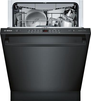 "Bosch 24"" Front Control Built-In Dishwasher with Stainless Steel Tub Black SHXM4AY56N"
