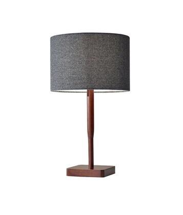 4092-15 Ellis Table Lamp  Walnut Rubber Wood