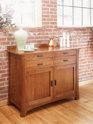 CATAM9010 Cattail Bungalow Side Board with Wood on Wood Drawer Glide  English Dovetailed Drawer Box Front & Back and Flared Out Framed Sides in Amber
