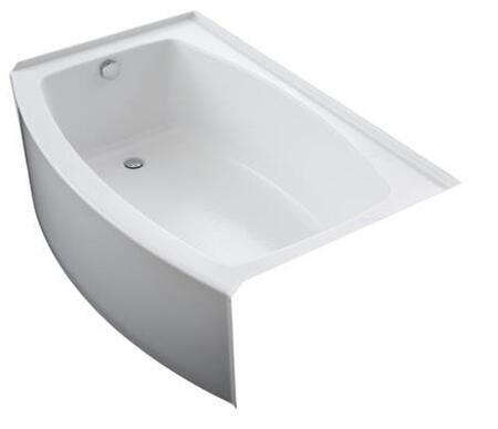 K-1100-LA-0 White Expanse Curved Alcove Bath