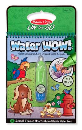5376 Melissa & Doug Water WOW ON the GO Travel Activity Set with Paint-with-water Coloring Book  Reusable Pages and Refillable Water Pen: