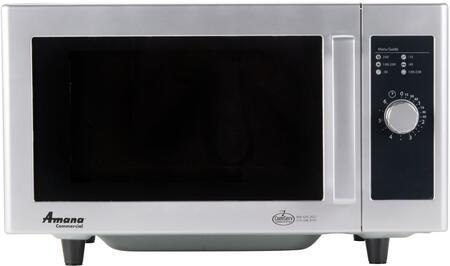 RMS10DS 20 inch  Commercial Low Volume Counter Top Microwave with .8 cu. ft. Capacity  1 Power Level  120 Volts  and Stainless Steel Construction  in Stainless