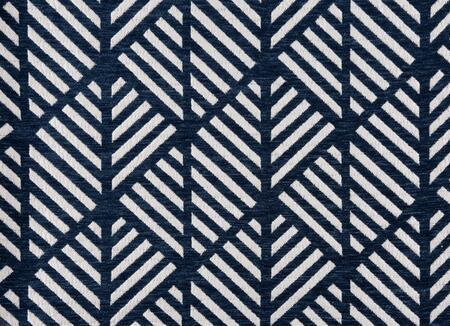 I 9212 Pillow - 18 inch X 18 inch  / Dark Blue Geometric Design /