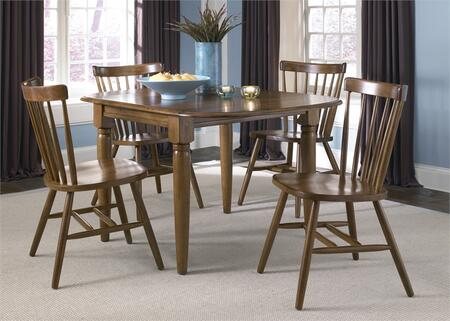 Creations II Collection 38-CD-5DLS 5-Piece Dining Room Set with Drop Leaf Table and 4 Copenhagen Side Chairs in Tobacco