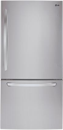 LG 22.1 Cu. Ft. Bottom-Freezer Refrigerator Stainless steel LDCS22220S