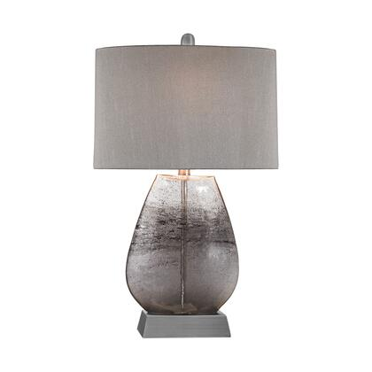D2913 Haarlem 1 Light Table Lamp in Storm Grey And Pewter Storm