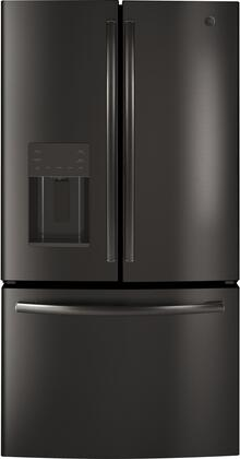 GE  GFE26JBMTS 25.6 Cu.Ft. Black Stainless French Door Refrigerator