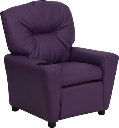 Contemporary Purple Vinyl Kids Recliner with Cup Holder BT-7950-KID-PUR-GG by Flash Furniture