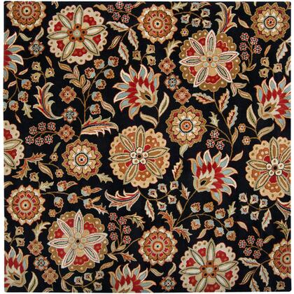 Athena Collection ATH5017-8SQ Square 8' Area Rug  Hand Tufted with Wool Material in Black and Red