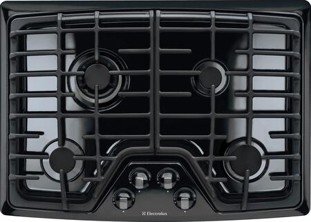 "EW30GC55PB 30"" Wide Gas Cooktop with 4 Sealed Burners  Professional-Grade Control Knobs  Min-2-Max Dual-Flame Sealed Burner  Continuous Grates and Electric"