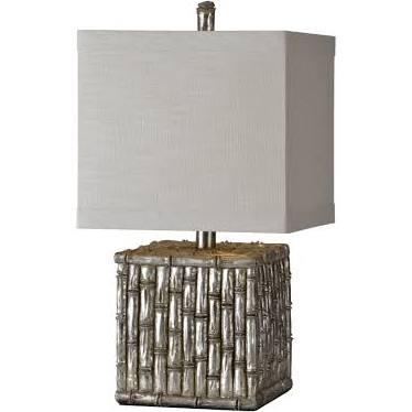 LPT581 Habitat Table Lamp Table Lamp in Silver
