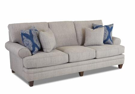 Fresno Collection K99340-S-DS-RB Sofa with Fabric Upholstery  Flared Arms and Tapered Legs in