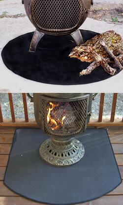 TBRC900F 36 inch  Front Round Flexible Fire Resistent Chiminea
