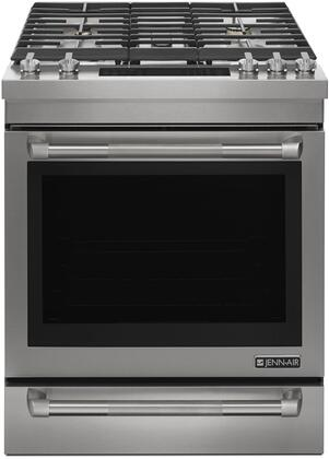 JGS1450DP 30 inch  Slide-In Gas Range with 5 Sealed Burners 7.1 cu. ft. Capacity  Baking Drawer  3 Oven Racks  and Self Clean  in Stainless