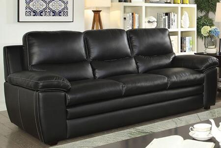 Mirielle CM6502-SF Sofa with Stitched Detailing  Pillow Top Armrests and Top Grain Leather Match Upholstery in