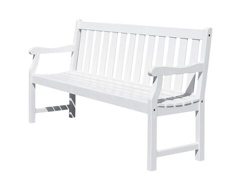 V1627 Bradley Eco-Friendly 5-Foot Outdoor Wood Garden Bench
